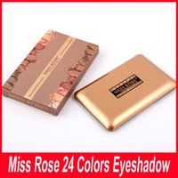 Wholesale Miss Rose Palette - New Miss Rose 24 Colors Shimmer Eyeshadow Palette Professional Eye Shadow Makeup Palette Natural Eye Cosmetic