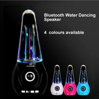 Wholesale Iphone Water Fountain Speakers - Wholesale- Wireless Bluetooth Water Dancing Speaker Portable Colorful LED Fountain FM TF card Subwoofer For Iphone Android phone Computer