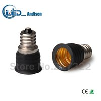 ingrosso supporto e12-Adattatore E12 TO E17 Presa di conversione Materiale ignifugo materiale di alta qualità E12 adattatore per portalampada Portalampada