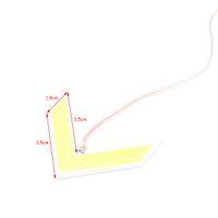 Wholesale Mirror License Plates - 1X COB LED Car Arrow Panel Light Turn Signal Light Rear view Mirror Light Yellow