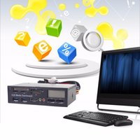 Wholesale Flash Media Reader - Portable All In 1 Media Dashboard 5.25 Inch CD ROM Multifunctional Panel 525F20 Card Reader USB Flash Memory Card Reader