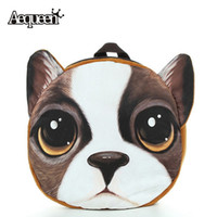 Wholesale Baby Zoo Backpack - Wholesale- Children 3D Cartoon Dog Face Pattern Backpack Lovely Baby Animal Zoo Kids School Backpacks Shoulder Bag 2017 Wholesale
