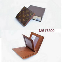 Wholesale halloween cards free - 2017 new L bag Free shipping billfold High quality Plaid pattern women wallet men's pures high-end luxury brand designer L wallet with box