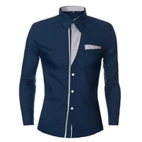 Commercio all'ingrosso - camicia maniche lunghe Camise maschile Camise maschile camicia manica lunga casuale Mens Dress