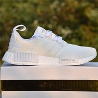 Wholesale Classic Women Running Shoes - Adidas Shoes NMD Runner R1 Primeknit White OG Triple Black Nice Kicks Men Women Running Shoes Sneakers Wholesale Classic With Box