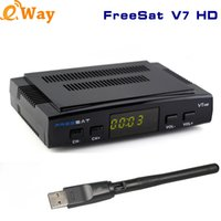 Freesat V7 HD Satellite Receiver Tv Full HD 1080P Com USB WiFi DVB-S2 HD Suporte Cccam powervu youporn Set Top Box biss chave