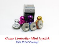 Wholesale Pink Joystick - 2017 Mini Tactile Game Controller Mini joystick for iPhone, iPad touch, or Android device cellphone roker sucker With Retail Package DHL