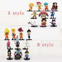 Wholesale Master Roshi Figure - 10pcs Lot Dragon Ball Z son Goku Buu Freeza Karin sama Beerus Master Roshi Piccolo Tenshinhan Gohan Trunks PVC Figure Toy