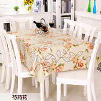 Wholesale Rectangular Cover - Pastoral Floral Print Table Cloth PVC Tablecloths Wedding Decoration Waterproof Oilproof Rectangular Table Cover New Year Gift