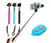 Wholesale Blister Package Galaxy - Bluetooth Remote Shutter Phone Clip Monopod blister kit Z07-1 For iPhone IOS Galaxy Android 3 in 1 kit set selfie stick with retail package