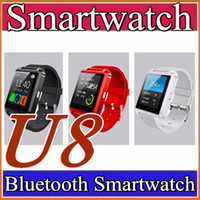 Wholesale 20X Factory cheap U8 smartwatch U8 Bluetooth Smart Watch Phone Mate For Android IOS Iphone Samsung LG Sony With call reminder A BS
