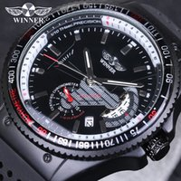 Wholesale Vintage Military Glasses - WINNER Brand Mens Watches Vintage Relogio Sports Automatic mechanical Watches Military Army Silicone Strap Watch