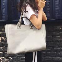 saco do estilo da brim venda por atacado-Moda feminina saco de compras de brim bordado mulheres praia saco de luxo estilo mulheres cadeia ombro bolsa de lona