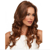 Wholesale Wholesale Half Wigs - Fashionable women's long Curly Two-Tone Wigs Wavy Synthetic Hair medium wave wigs half blonde Synthetic hair DHL bea450