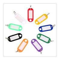 Wholesale Plastic Card Keychain - Colorful Key Tags Plastic Keychain Key Tags ID Label Tags Split Ring Keyring Keychains Name Key Card Marking Free DHL