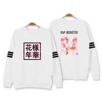 Wholesale Kpop Pullover - Wholesale- streetwear Bangtan Boys Kpop BTS Hoodies Sweatshirts Letter Printed in J-HOPE 94 and SUGA 93 JUNG KOOK 9 men winter clothing