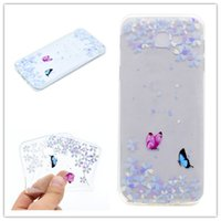 Wholesale galaxy girl - Transparent TPU Cover For Samsung Galaxy J7 Prime Case Fashion colour decoration Tower bike Butterfly Girl Feather Design Phone Case