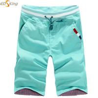 Wholesale Cheap Wash Clothes - Wholesale-16 Colors Men New Casual Drawstring Pocket Plus Size Overall Cotton Washed Shorts Bermudas Masculina Cheap Clothing China