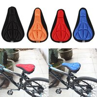 Wholesale Bicycle Silicone Cover - Cycling Bicycle Bike Silicone Saddle Seat Cover Silica Gel Cushion Soft Pad Bicicleta Silicone Saddle free shipping