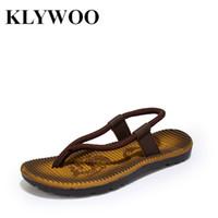 Wholesale T Strap Slippers - Wholesale-Hot Sandals Flip Flops Men Leisure Flat Soft Beach Slippers Size 40-44 Flip Flops Mens Causal Shoes Breathable Zapatos Hombre