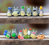 Fairy Garden Miniatures outdoor resin decor - 10set free shiping style tiny animal Totoro fairy garden miniature decor DIY home desk artificial resin indoor and outdoor decor accessory