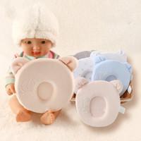 Wholesale Round Foam - Newborn anti-migraine pillow concave adorable baby shape memory foam pillows