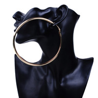 Atacado- Big Gold Hoop Brincos Basketball Brincos Round Gold Grandes brincos de festa Circle For Fashion Women 110MM