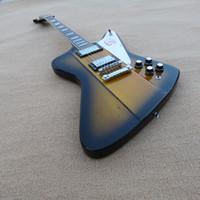 Wholesale Thunderbird String - Promotion Standard VOS Firebird Thunderbird Sunburst Electric Guitar Chrome hardware Trapezoid MOP Fingerboard Inlay