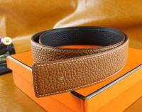Wholesale Boys Belt Sizes - New 2017 High quality real leather belt men Automatic belts luxury Brand Fashion brand designer belts men Silver Gold Buckle belt