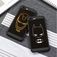 cubiertas protectoras frescas del iphone al por mayor-Funda para iPhone 7 Funda de Silicona Cool Batman Luxury para iPhone 7 6s 6 Plus Bolsa de teléfono completa de protección TPU