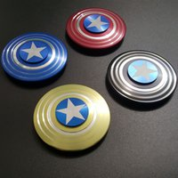 Wholesale Captain America Shield Hand Spinner The Anti Anxiety Metallic Spinner Fidget Toy Fingertips For Kids Adults Stress