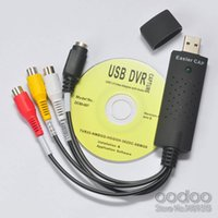 Großhandels-USB 2.0 EasierCAP UTV007 tv dvd vhs video Aufnahme-Adapterkarte Audio AV mmm video Aufnahmekarte Fast usb video graber dvr