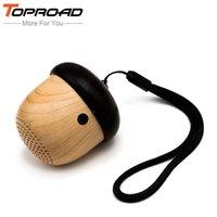 Wholesale Pocket Speakers - Wholesale- Portable Mini Bluetooth Speaker Wooden Nut Pocket Speakers with Mic Handsfree Outdoor Altavoz for iPhone Xiaomi Phones