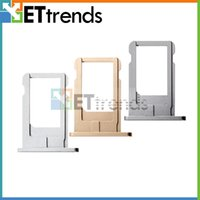 Wholesale iphone plus sim free for sale - Group buy original new For iPhone Plus Sim Card Tray Holder Slot Sim card holder gold silver space grey DHL