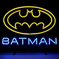 "Wholesale Batman Display - Hot Fashion Neon Sign New Batman Comic Book Hero Action Handcrafted Neon Light Sign Beer Bar Sign Film Advertisement Display 19""x15"""