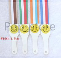 Wholesale Stripe Lanyard - Fashion boutique A lot of stripe smiley face mobile phone lanyard Key chain keychain neck storp small accessories