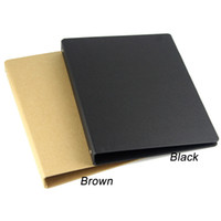 Wholesale A5 Folders - Wholesale- brown black A4 B5 A5 A6 kraft notebook office ring binder folder 4 6 20 26 holes rings spiral notebook cover