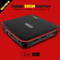 Wholesale Arm Hdmi - Android TV Boxes MECOOL M8S PRO S905W 1G 8G Android7.1 OS Smart TV Box Quad core ARM Cortex-A53 Wifi 4K Full HD