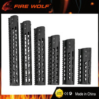 "Wholesale Handguard Rails - FIRE WOLF 7"" 9''10"" 12"" 13.5''15"" AR15 Free Float Keymod Handguard Picatinny Rail for Hunting Tactical Rifle Scope Mounts"