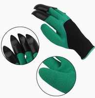 Wholesale Glove Plastic Bags - arden Genie Gloves With 4 Claws Built In Claws OPP BAG easy way to Garden Digging & Planting Gloves Waterproof Resistant To Thorns D786