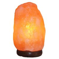 Wholesale Hot Dimmer Switch - 1.5-2kg Hot sale New fashion Himalayan natural salt crystal lamp Air Purifying with Neem Wood Base, Bulb and Dimmer switch