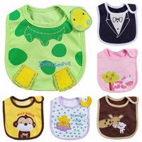 Wholesale Embroidered Burp Cloths - Wholesale- 3pcs lot Cotton Baby Bibs Infant Embroidered anti dressing Saliva Towels Burp Cloths Funny Baby Wear Baby Accessories wholesale