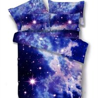 Wholesale duvet covers for kids - Wholesale- Galaxy bedding 2pcs 3pcs 4pcs bedding sets milky way twin queen hipster 3D duvet cover set for kids children