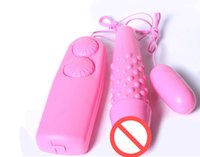 Wholesale Women Adult Items - Pink Double Vibrating Jump Eggs Vibrator Massager Dot Bullet For Women Sex Products Adult Items