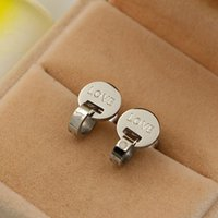 Wholesale Hot Lose Money Promotion - Lose Money Promotion Wholesale Hot Selling Titanium Steel Rose Gold Color Frosted Earrings Woman Fashion Jewelry Never Fade