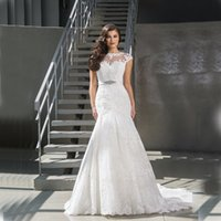 Wholesale Bridal Dress China Mermaid - 2017 Sexy Mermaid Wedding Dresses China Cheap Merry Bridal Gowns Custom Made Summer Beach Garden Spring Sexy Long Vestido De Noiva