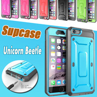 Wholesale unicorn beetle series iphone - Supcase Unicorn Beetle PRO Series Full-body Rugged Holster Case Cover For iPhone 8 7 Plus 6 6S Samsung S6 Edge Without Swiveling Belt Clip