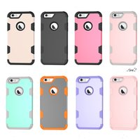 Wholesale Iphone C Back Covers - Hybrid Armor Case For galaxy S8 PLUS For iphone 7 plus 6 PLUS Defend Robot Back cover Rugged 3 in 1 cover C