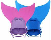 Wholesale Kids Latex Costume - Adjustable Mermaid Swim Fin Diving Monofin Swimming Foot Flipper Mono Fin Fish Tail Swim Training For Kid Children Christmas Gifts in stock