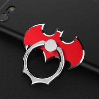 Wholesale Wholesale Smartphone Tablet - 360 Degree Finger Ring Batman Mobile Phone Smartphone Stand Holder Universal Cell Phone Ring Holder for iPhone7 Samsung S8 Tablet Metal Ring
